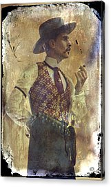 Gunslinger IIi Doc Holliday In Fine Attire Acrylic Print by Toni Hopper