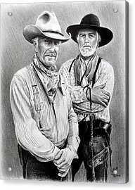 Gus And Woodrow Acrylic Print