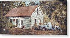 Gus Klenke Garage Acrylic Print by Scott Norris