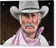 Acrylic Print featuring the painting Gus Mccrae Texas Ranger by Rick McKinney