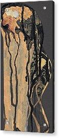 Acrylic Print featuring the painting Gustav Klimt's Tears by Maya Manolova