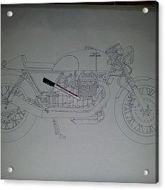 Guzzi En Proceso #motorcycle #motogp Acrylic Print