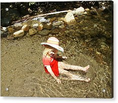 Acrylic Print featuring the photograph Gwenyn At Galena Creek On Mt Rose by Dan Whittemore