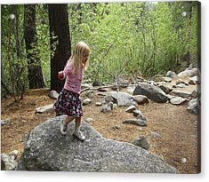 Acrylic Print featuring the photograph Gwenyn On Mt. Rose by Dan Whittemore