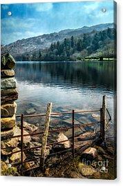 Gwynant Lake Acrylic Print by Adrian Evans