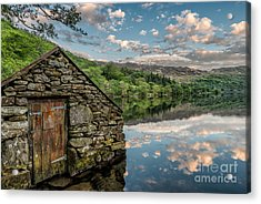 Gwynant Lake Sunset Acrylic Print by Adrian Evans