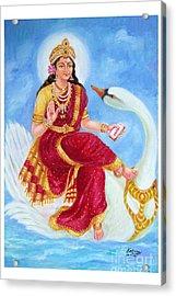 Gyatri Devi Acrylic Print by Kalpana Talpade Ranadive