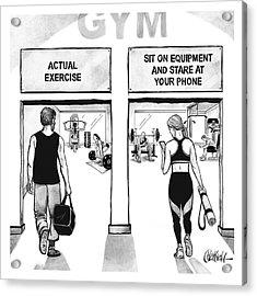 Gym Acrylic Print