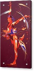 Gymnast Eight Acrylic Print by Penny Warden