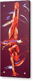 Gymnast Six Acrylic Print by Penny Warden