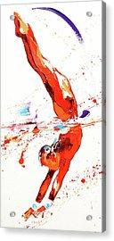 Gymnast Three Acrylic Print