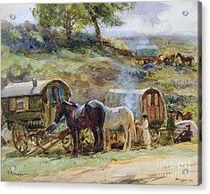 Gypsy Encampment Acrylic Print by John Atkinson