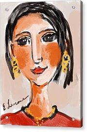 Gypsy Lady Acrylic Print by Elaine Lanoue