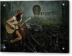 Gypsy Life Acrylic Print by Mihaela Pater
