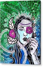 Gypsy Mary Acrylic Print by Amy Sorrell