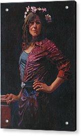 Gypsy Acrylic Print by Robert Bissett