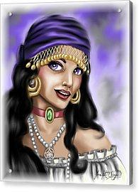 Gypsy Acrylic Print by Scarlett Royal