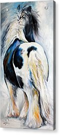 Gypsy Vanner Modern Abstract Acrylic Print