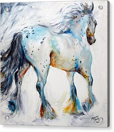 Gypsy Vanner Motion Paint Sketch Acrylic Print