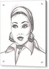 Gypsy Woman Acrylic Print by Scarlett Royal