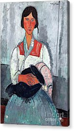 Gypsy Woman With Baby Acrylic Print