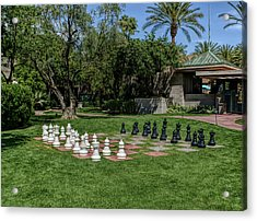 Acrylic Print featuring the photograph H D R Chess At The Biltmore by Aimee L Maher Photography and Art Visit ALMGallerydotcom
