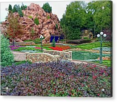 Acrylic Print featuring the photograph H D R Flower Garden Walkway by Aimee L Maher Photography and Art Visit ALMGallerydotcom