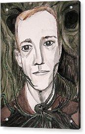 H P Lovecraft Acrylic Print by Darkest Artist