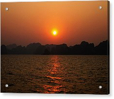Ha Long Bay Sunset 2 Acrylic Print by Oliver Johnston