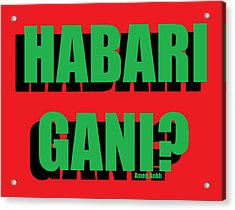 Habari Gani Acrylic Print