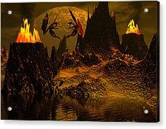 Habitation Of Dragons Acrylic Print by Claude McCoy
