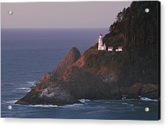 Haceta Head Lighthouse At Sunset Acrylic Print