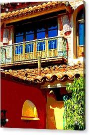 Hacienda Balcony By Darian Day Acrylic Print by Mexicolors Art Photography