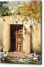 Hacienda Gate Acrylic Print by Sam Sidders