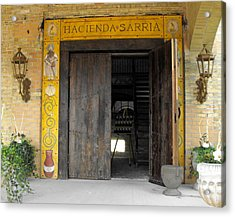 Hacienda Sarria Acrylic Print by David and Lynn Keller