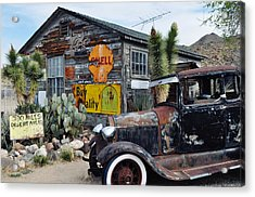 Hackberry Route 66 Auto Acrylic Print by Kyle Hanson