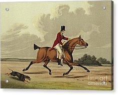 Hackney Acrylic Print by Henry Thomas Alken