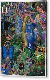 Acrylic Print featuring the painting Hada De Pero Nuga by Pablo Amaringo