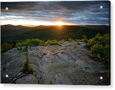 Hadley Mountain Sunset Acrylic Print