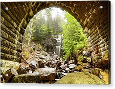 Acrylic Print featuring the photograph Hadlock Falls Under Carriage Road Arch by Jeff Folger