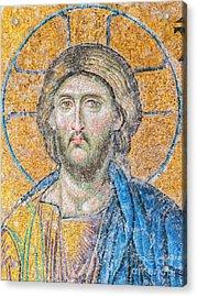 Hagia Sofia Jesus Mosaic Digital Painting Acrylic Print