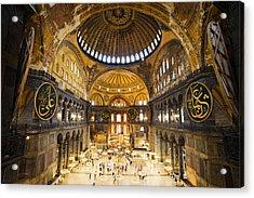 Hagia Sophia Interior Acrylic Print by Artur Bogacki