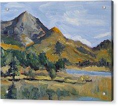 Hahns Peak From Rainbow Point Steamboat Lake State Park Colorado Acrylic Print by Zanobia Shalks