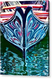 Acrylic Print featuring the photograph Haida Canoe by Rand