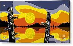 Haida Sunset Acrylic Print by Christopher Williams