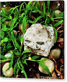Haight Ashbury Smiling Rock Acrylic Print