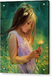 Acrylic Print featuring the painting Hailey by Steve Henderson