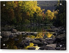 Hailstone Sunrise Fall Color 2012 Acrylic Print