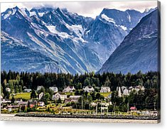 Haines, Alaska Surrounded In Mountains Acrylic Print