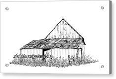 Haines Barn Acrylic Print by Virginia McLaren